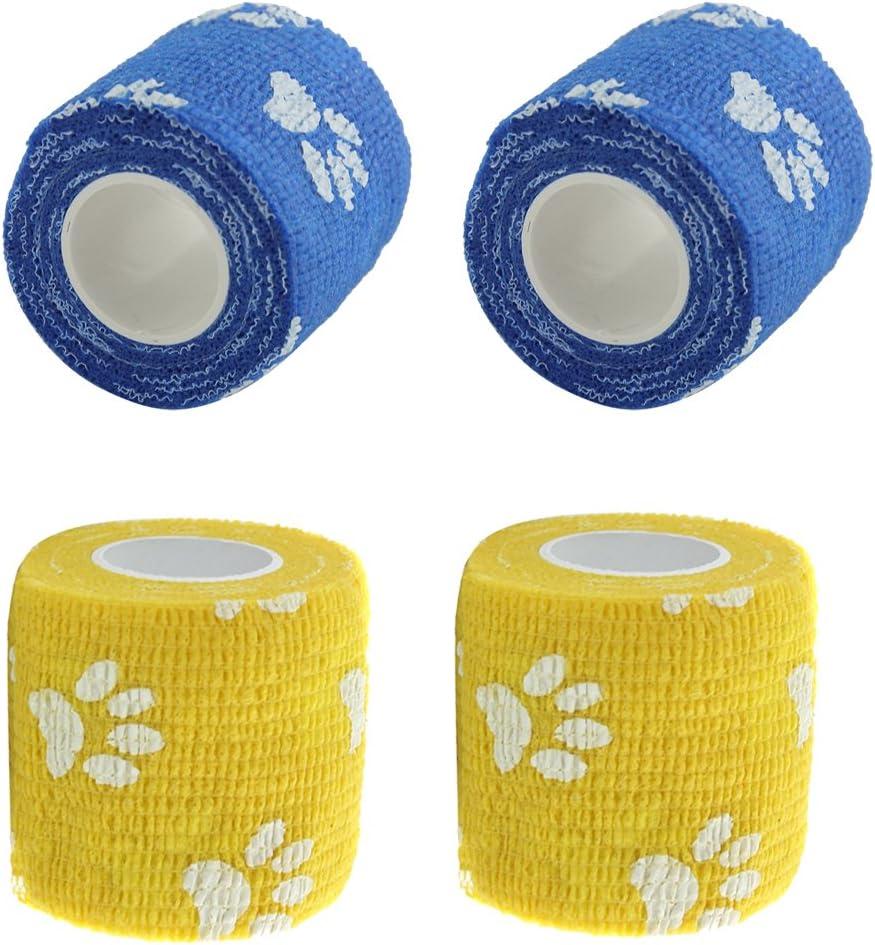 Almencla 4pcs Flexible Cat Dog Pet Ranking Max 85% OFF TOP2 Cohesive Ga First Aid Bandage