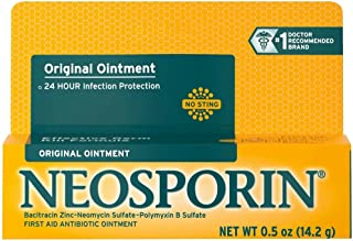 Neosporin Original Antibiotic Ointment, 24-Hour Infection Prevention for Minor Wound.5 oz