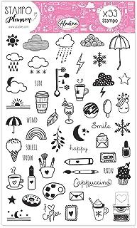Aladine - Stampo Planner Girly - Planche de Tampons Bullet Journal - Scrapbooking et DIY - Personnalisez vos Agendas et Ca...