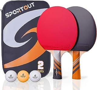 comprar comparacion Easy-Room - Raqueta de Ping Pong con 2 Raquetas y 3 Pelotas y Raqueta de Ping Pong con Funda (Advanced Play)