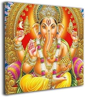 淳楽 アートフレームアートパネル 壁飾り ヒンドゥー教の神ガネーシャ インテリア 飾り絵 装飾画 枠なし