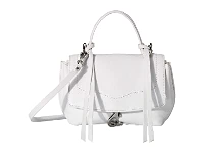 Rebecca Minkoff Stella Mini Satchel Crossbody (Optic White) Handbags