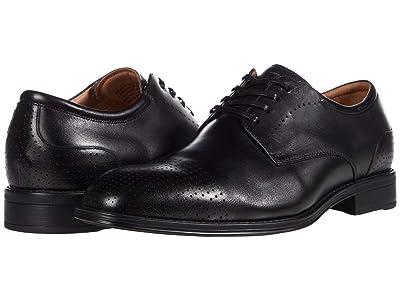 Florsheim Amelio Perf Cap Toe Oxford (Black Smooth) Men