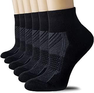 CelerSport Running Ankle Socks for Men Women(6 Pairs)- Sport Athletic Socks with Cushion, Seamless Toe