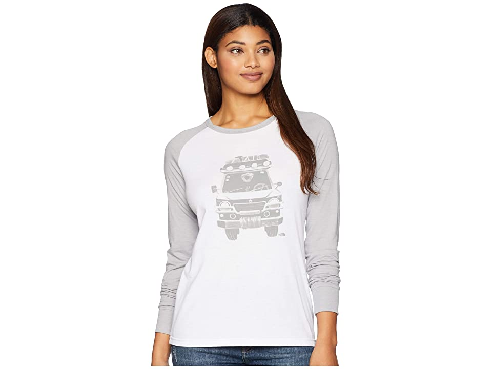 The North Face Long Sleeve Take To Nature Tri-Blend Tee (TNF White Heather/TNF Light Grey Heather) Women