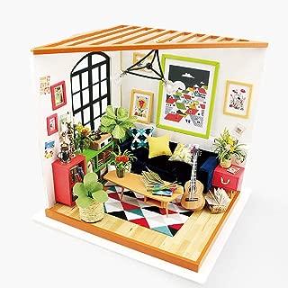 Eggschale DIY Dollhouse Miniature Dollhouse Kit Wooden Model Locus's Sitting Room Birthday for Kids Teens Adults