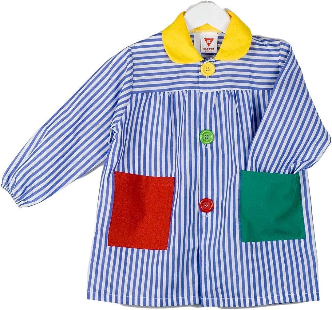 KLOTTZ - Babi escolar rayas parchis Niñas