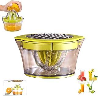 Exprimidor De Jugo De Naranja Limón, Exprimidor De Frutas Profesional Multifuncional Manual 4 En 1, Cinturón De Plástico C...