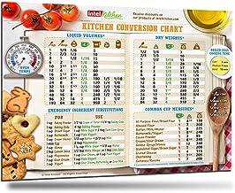 "Comprehensive Kitchen Conversion Chart Magnet 10""x7"" Big Text 50% More Data.."