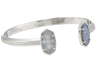 Kendra Scott Elton Bracelet (Rhodium Steel Gray Drusy) Bracelet