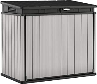 Keter 240790 Premier XL Resin Outdoor Storage Shed, Grey