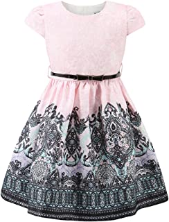 Kids 3-10 Years Old Pink Girls Special Occasion Formal Party Jacquard Princess Christmas Dresses