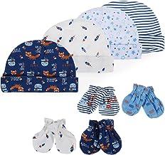 Ruiqas alla Moda per Ospedale e Neonato in Cotone Set di 3 Cappellini per Neonato