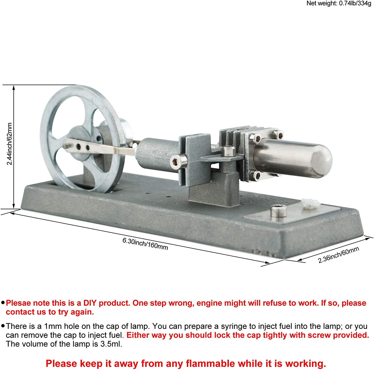 DjuiinoStar Hot Air Stirling Engine Assembly Kit: Spend 30 Minutes to Build...