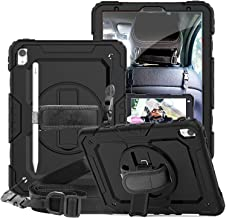 SUPSTRO iPad Pro 11 Case 2018 with Pencil Holder,Built-in Kickstand,Elastic Hand Strap and Shoulder Strap,Full Body Shockproof Protective Case for iPad Pro 11 inch 2018 Black