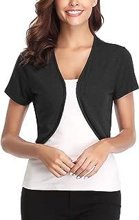 Abollria Women's Long Sleeve Shrug Bolero Open Front Cardigan