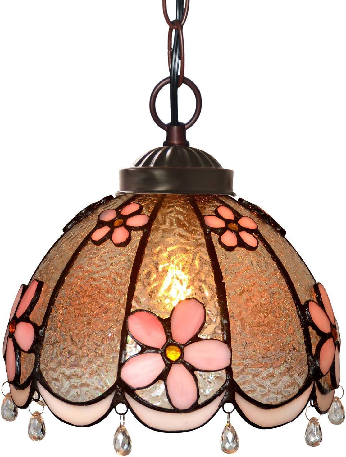 AIBOTY Max 64% OFF Tiffany Style Pendant 1 year warranty Light Hanging 8