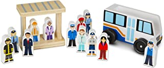 Melissa & Doug Wooden Off To Work Bus Play Set (14 pcs)