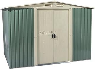 Metal Dry FoxHunter caseta de jardín al aire libre de almacenamiento 182,88 cm X