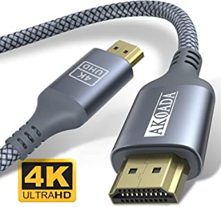 AkoaDa - Cable HDMI (4 K a 60 Hz, alta velocidad, 18 Gbps, HDMI 2.0, vídeo 4 K 2016P HD, 1080P 3D, Blue-ray, compatible con Apple TV, Xbox, PS3, PS4, HDTV) HDMI Kabel 4.5m gris