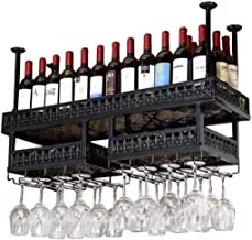 Yxsd Kitchen Storage Organisation Luxury Wine Racks Metal Iron Wine Storage Shelf Ceiling Wall Mounted Hanging Wine Stemwa...