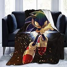 Feinilin Sonic The Hedgehog بطانية دافئة لحاف سرير أريكة غرفة نوم خفيفة الوزن مريحة وناعمة 60 بوصة × 50