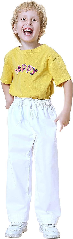 TOPTIE Martial Arts Pants Karate Suit for Adult Kids