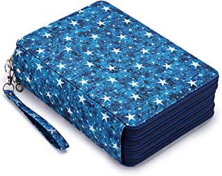 BTSKY Colored Pencil Case- 200 Slots Pencil Holder Pen Bag Large Capacity Pencil Organizer with Handle Strap Handy Colored...