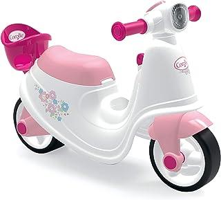 Smoby - Corolle - Porteur Scooter - Pour Enfant Dès 18 Mois - Roues Silencieuses - Coffre à Jouets - Porte Poupon Intégré...