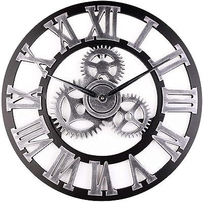 Fgy Horloge Murale Geante Silencieuse Pendule Murales