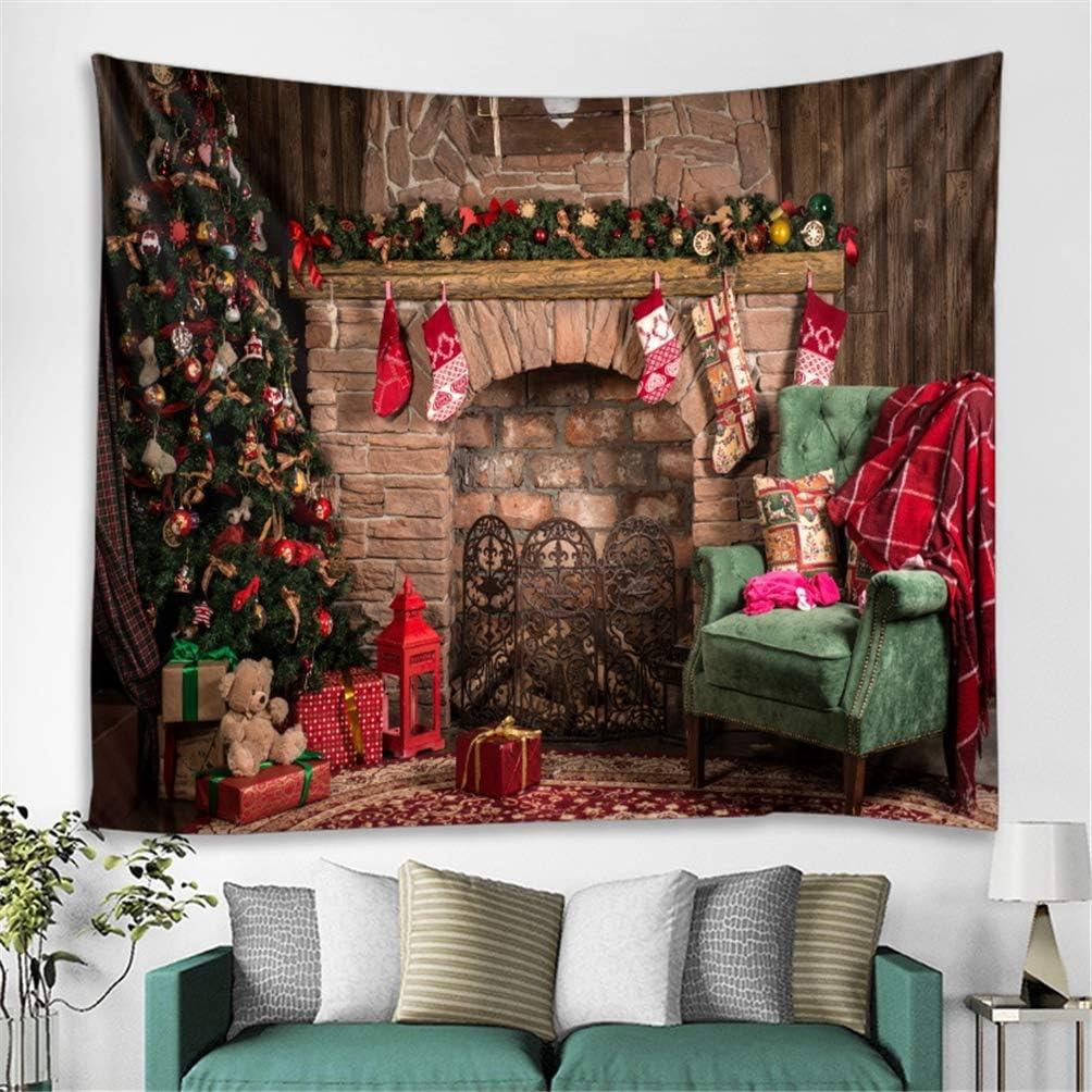 ZC Dawn Christmas Backdrop Photography Background Xmas Tree Decoration Gifts Sofa Fireplace Socks Festival Celebration Portraits Photos Video Studio Props