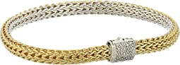 Classic Chain Diamond Pave Reversible Bracelet 5mm
