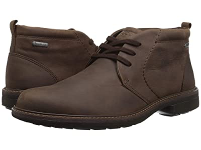 ECCO Turn Gore-Tex Chukka Tie (Cocoa Brown) Men