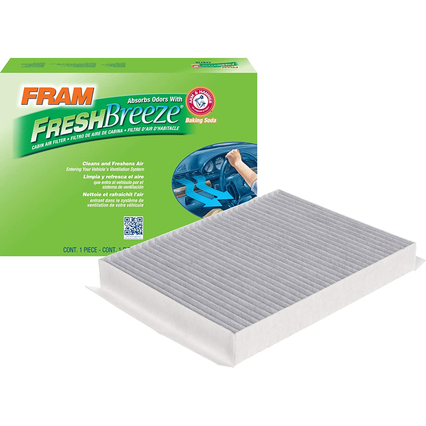 FRAM CF12152 Fresh Breeze Cabin Air Filter with Arm and Hammer