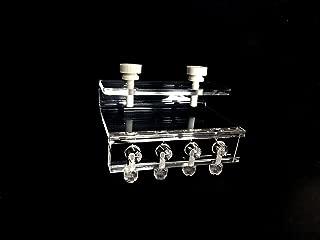 Soft Tube Fixture Holder for Dosing Pump Air Pump (4 Tubes) Acrylic Made