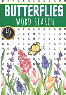 Butterflies Word Search: Butterfly Word Search Book | 40 Puzzles With Words Scramble for Adults, Kids and Seniors | More T...