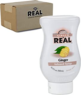 Ginger Reàl, Ginger Infused Syrup, 16.9 FL OZ Squeezable Bottle (Pack of 1)