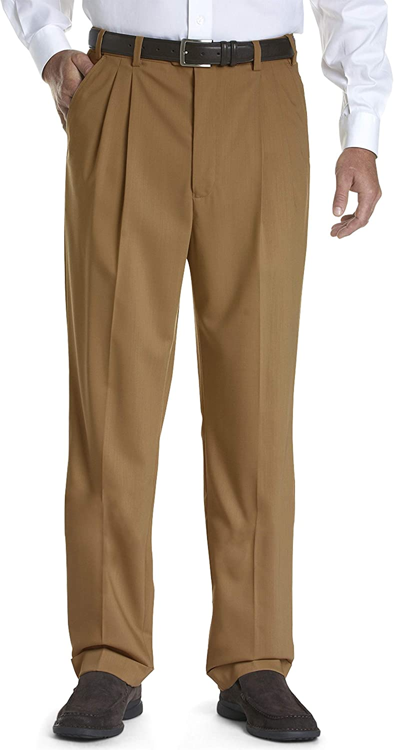 Gold Series DXL Big and Tall Continuous Comfort Pleated Sateen Dress Pants
