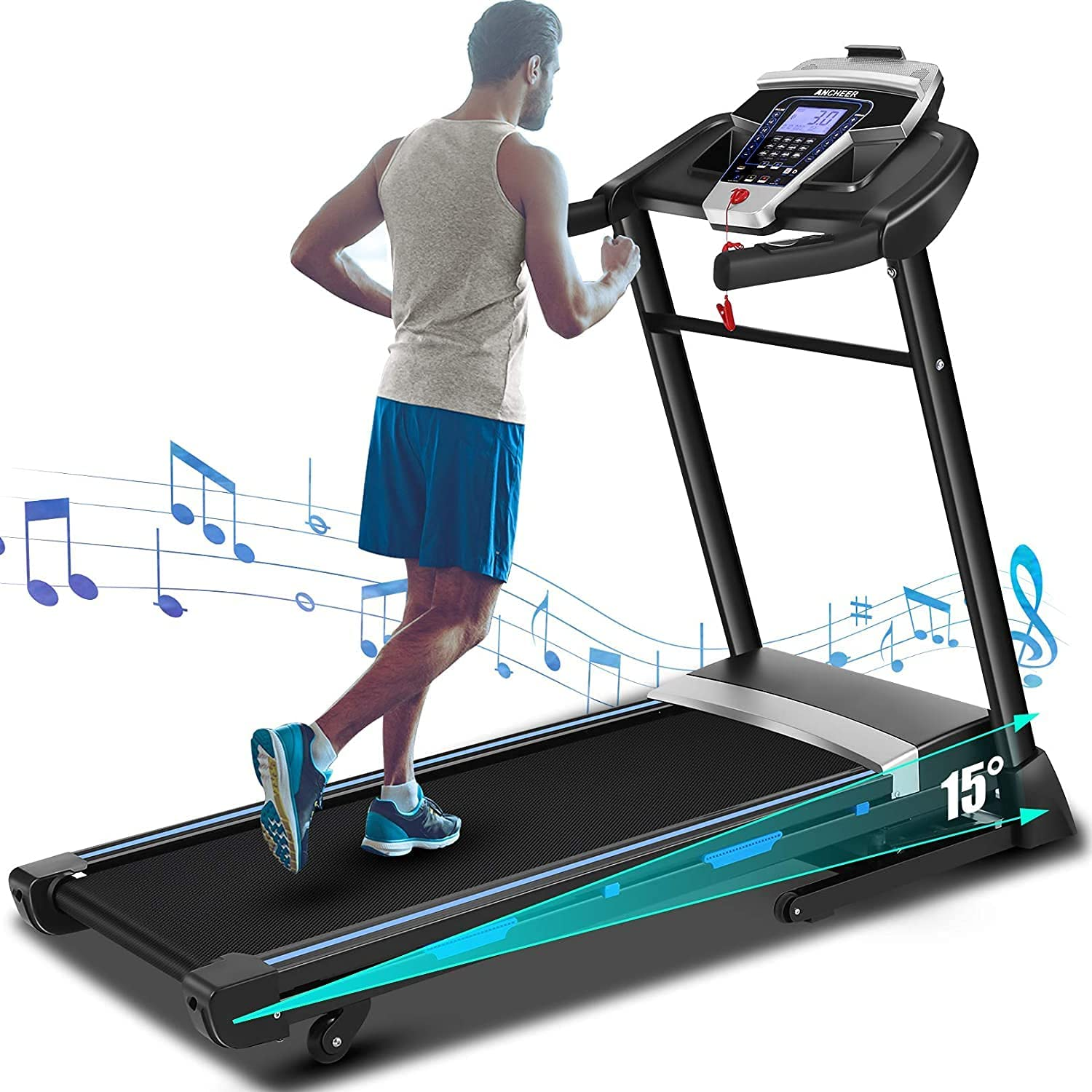 Folding Treadmill for Home San Jose Mall Popular products 3.25HP Incline Electric Automatic Tr