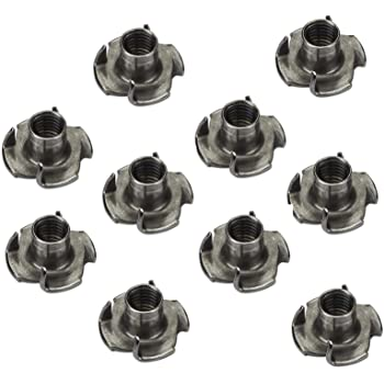 10 x SO-TECH/® Tuercas de P/úas M10 x 13 x 25 mm con 4 Puntas de Entrada para Fijar varios Componentes en Muebles//Tuercas de Seguridad
