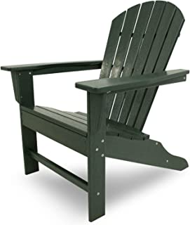 POLYWOOD SBA15GR South Beach Adirondack Chair, Green