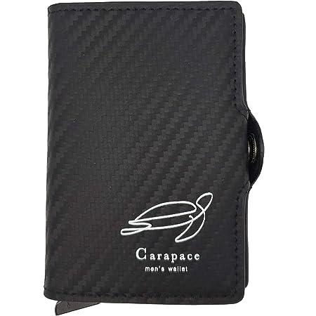 CARAPACE - Carteras Hombre   Tarjetero Hombre con Bloqueo RFID   Diseño de Fibra de Carbono   Billetera Hombre de Cuero de Calidad.