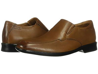 Clarks Bensley Step (Dark Tan Leather) Men
