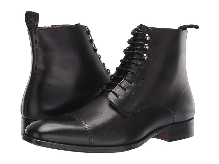 1920s Style Mens Shoes | Peaky Blinders Boots Mezlan Essen Black Mens Lace-up Boots $263.89 AT vintagedancer.com