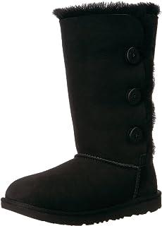 حذاء حريمي من UGG مطبوع عليه K Bailey Butter، أسود، مقاس 13 M للأطفال الصغار في الولايات المتحدة
