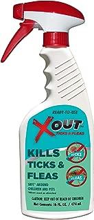 X-Out Anti-Flea and Tick Spray - Non-Toxic - 16 Oz