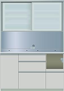 パモウナ 食器棚IE シルキーアッシュ 幅140×高さ198×奥行50 日本製 IER-1400R