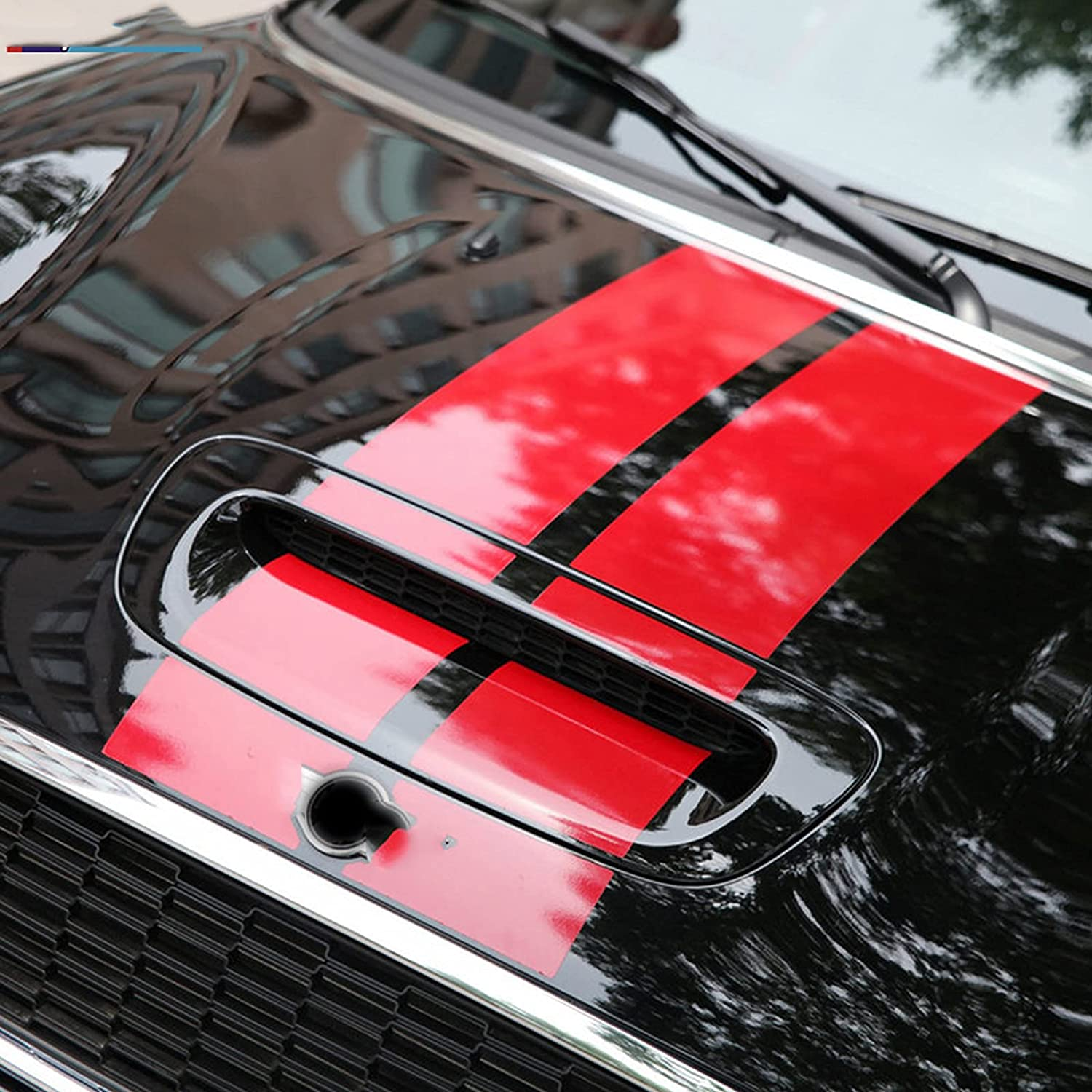 DDNAF Car Bonnet Stripe Sticker Engine Cover Trunk Roof F Decal Fashionable Limited time for free shipping