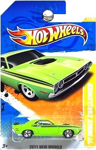 2011 Hot Wtalons 12 244 - nouveau Models - '71 Dodge Challenger (vert)