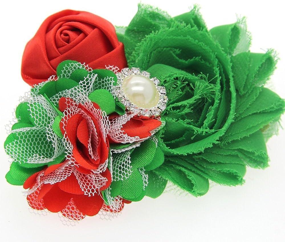 Festivous Wishel Baby Girls Headbands Set Christmas Hair Bow Bands Flower Hair Accessories 4 Styles